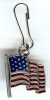 US Flag Zipper Pull